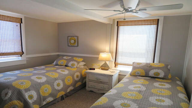 Bedroom with 2 twins at end of ahll-128 Sea Street Unit 11 Dennisport Cape Cod New England Vacation Rentals