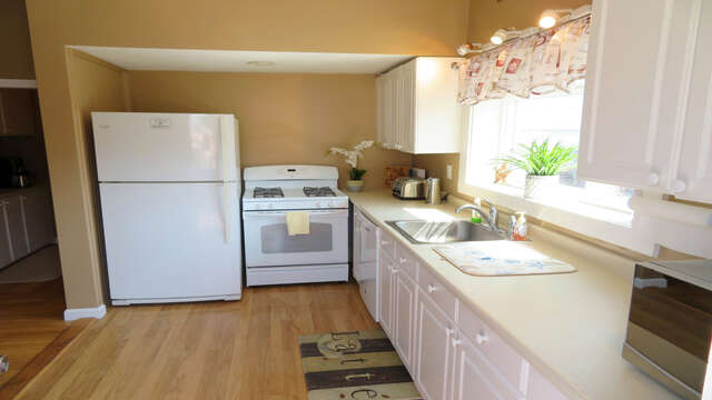 Fully equipped kitchen with Dishwasher-128 Sea Street Unit 11 Dennisport Cape Cod New England Vacation Rentals
