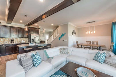 Comfy living room seating
