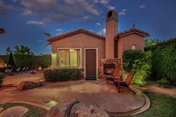 The detached casita is perfect for members of your group that want privacy or are on a different time schedule
