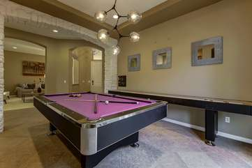 A pool table is a MUST in a vacation rental