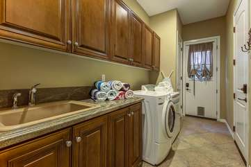 Laundry room is stocked with plenty of detergent if you choose to do laundry on your vacation