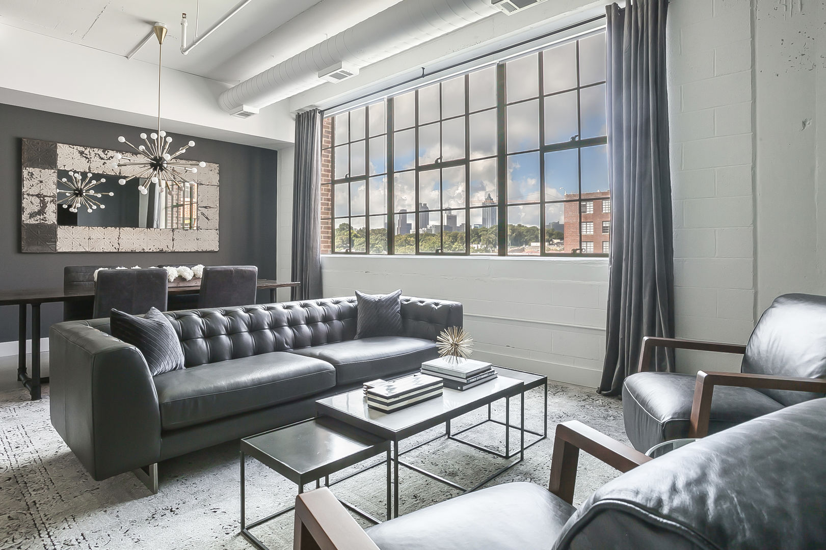 The living area of this Ponce Market Apartment.