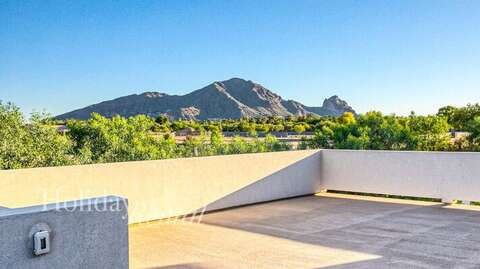 Private balcony attached to bedroom 5, views of Camelback