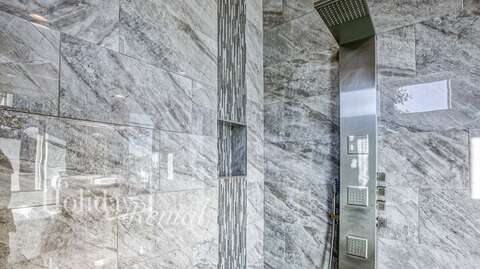 Master Shower with access to backyard