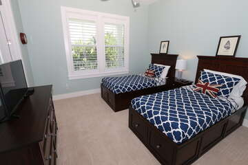1st Guest Bedroom with extra long twin beds