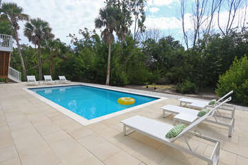 Heated pool and seating