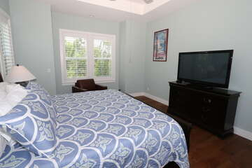 Master Bedroom with King bed and 45