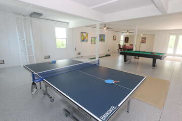 Ping Pong and Pool Table area