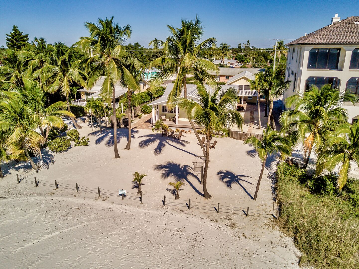 Aerial view of our Fort Myers cottage