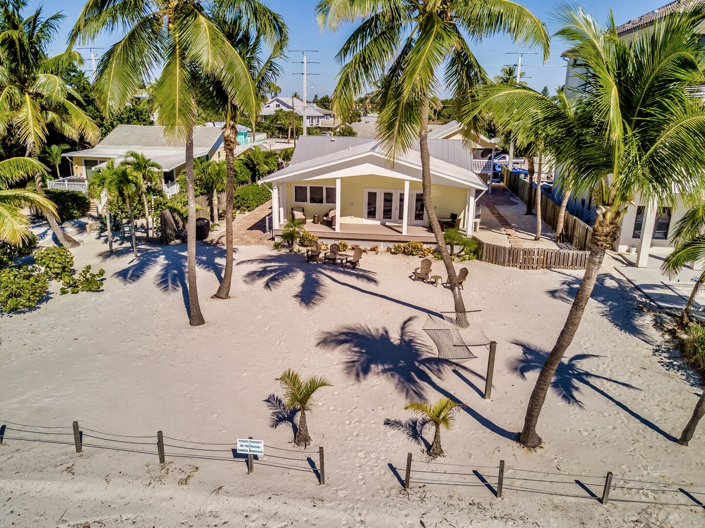 Aerial view of our large Fort Myers cottage