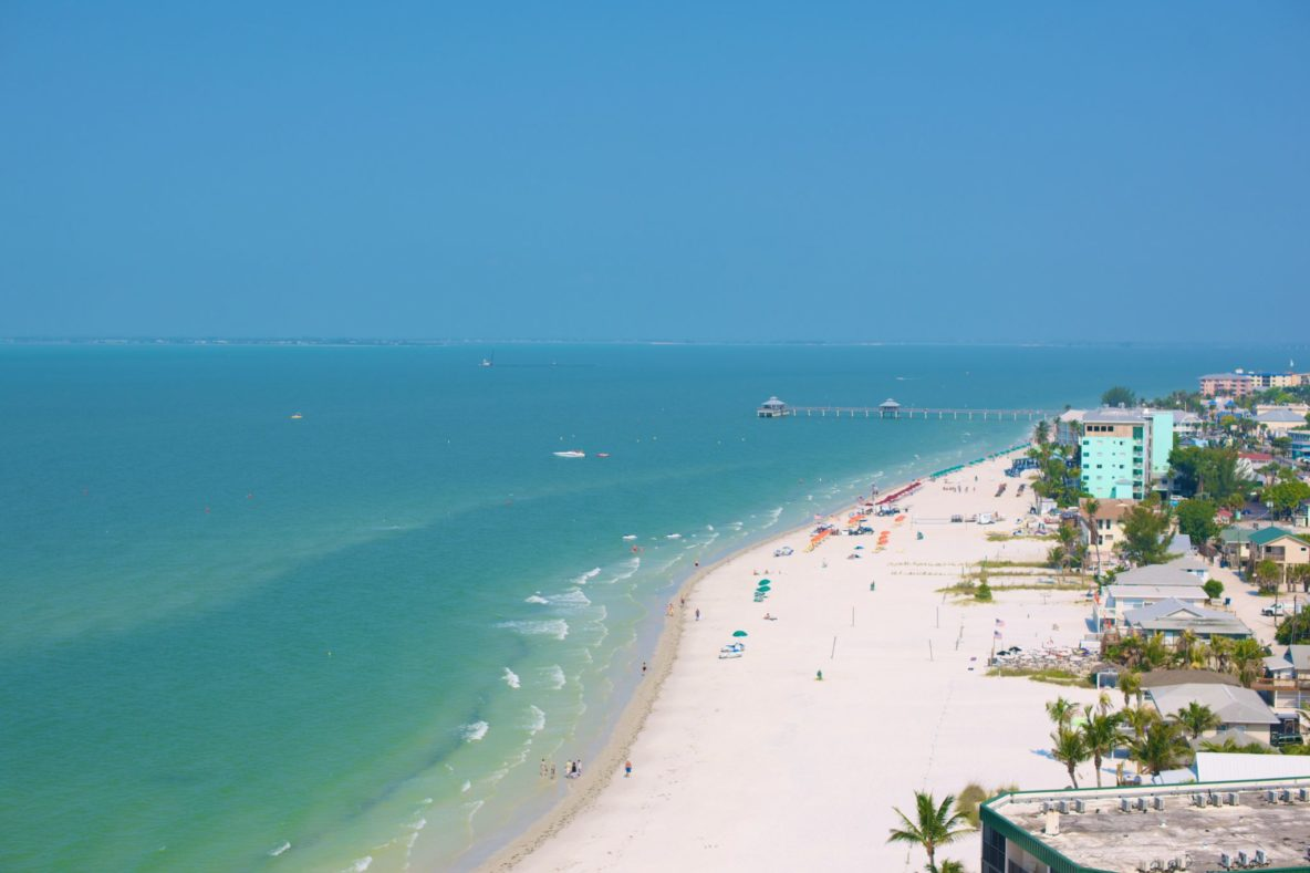 7 miles of beach coastline from our Fort Myers cottage