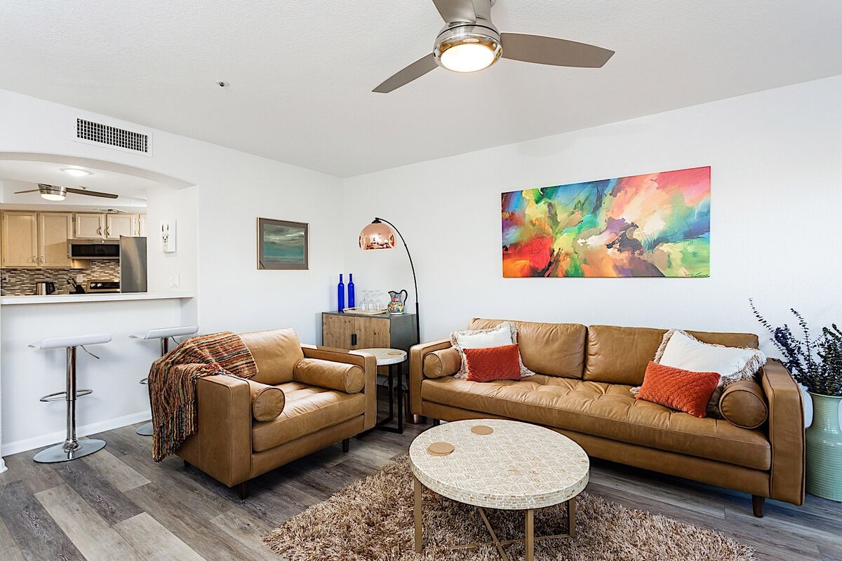 Modern art meeting the retro vibes welcome you into this home in Old Town