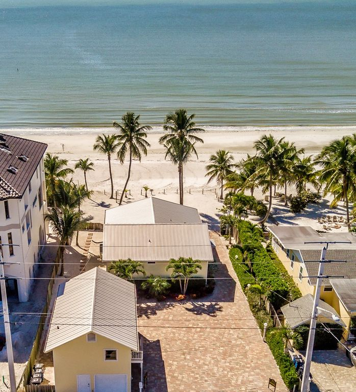 Aerial view of the rental and beach