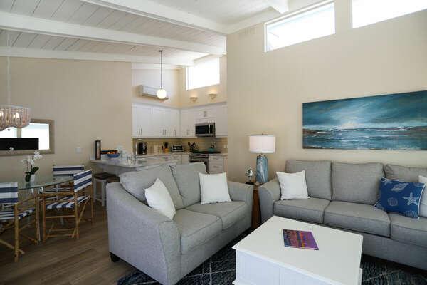 The Open Floor Plan Facilitates a Cozy Atmosphere