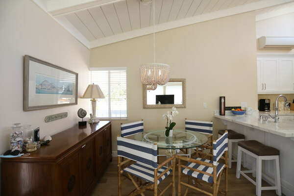 Dining Area and Breakfast Bar in our Mission Beach Condo Rental
