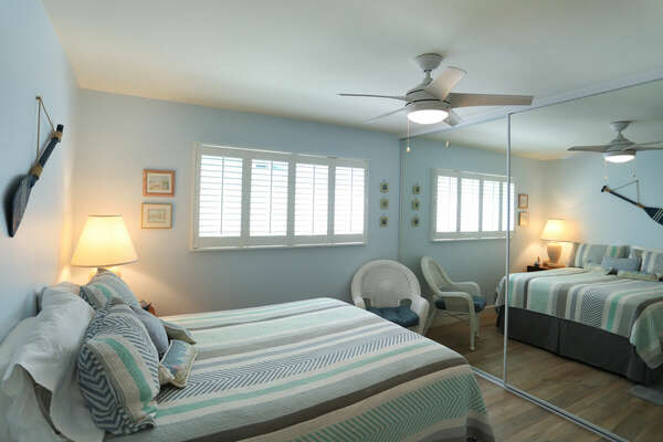 Guest Bedroom with a Queen Bed in our Mission Beach Condo Rental
