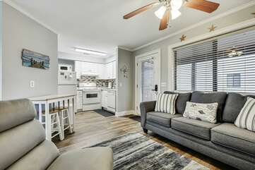 Living room with sleeper sofa (sleeps 1-2)