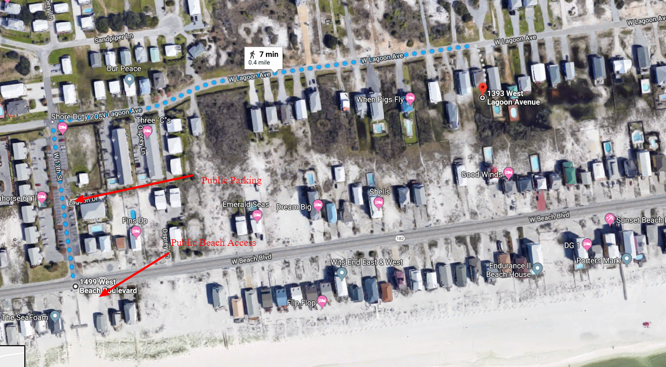 An Image of the Beach Access Map.