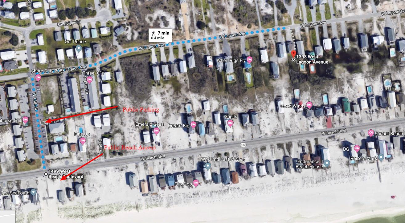Beach access map
