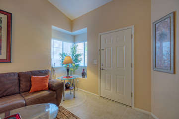 Front entrance in pretty first floor Northpointe townhome welcomes you