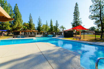 Community pools are open year round when you're in the mood for a refreshing swim