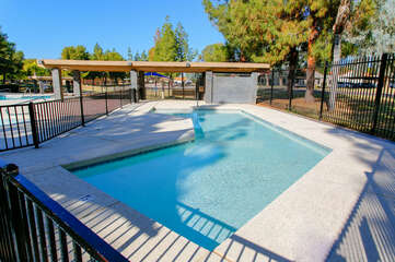 Pools are not heated but offer a fun splash on a warm and sunny day