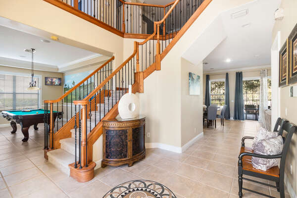 A beautiful foyer welcomes you into this luxury home