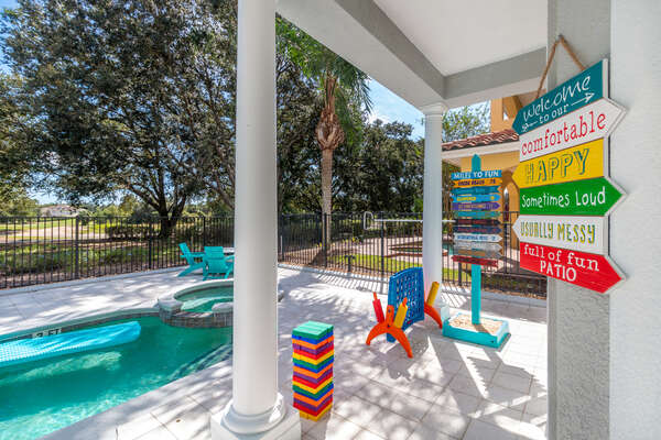 Have fun playing poolside with ping pong, basketball and a variety of games
