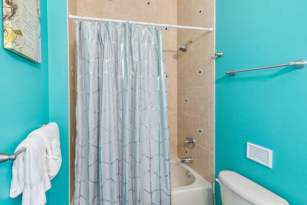 Combination tub and shower