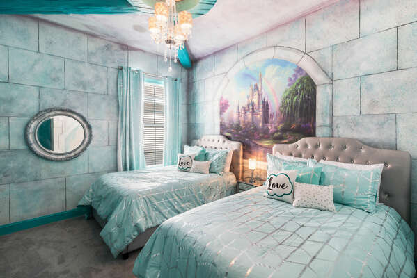 Escape to wonderland in this princess themed bedroom