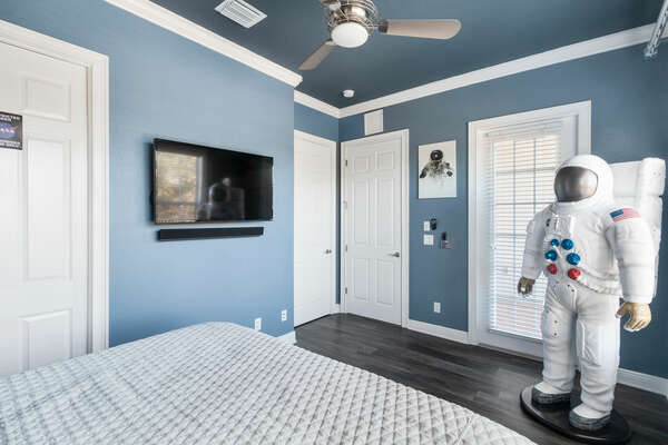 Enjoy all the space themed details throughout the suite