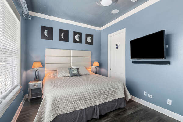 This Master Suite features a Space theme, including a fiber optic star ceiling