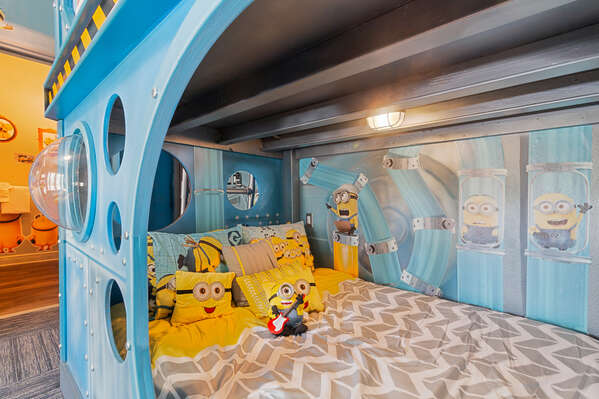 Attention to detail in this room will have the kids entertained for the whole stay