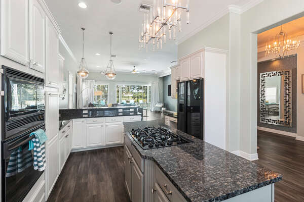 Make family meals together in this fully-equipped kitchen