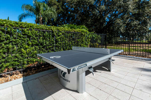 Check out the new ping pong table added to the pool area