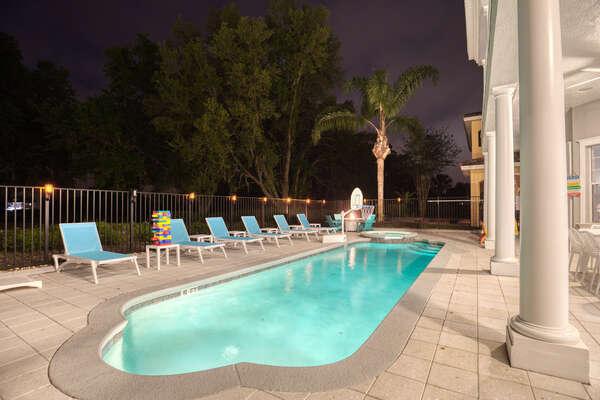 Swim nights under the Florida night sky