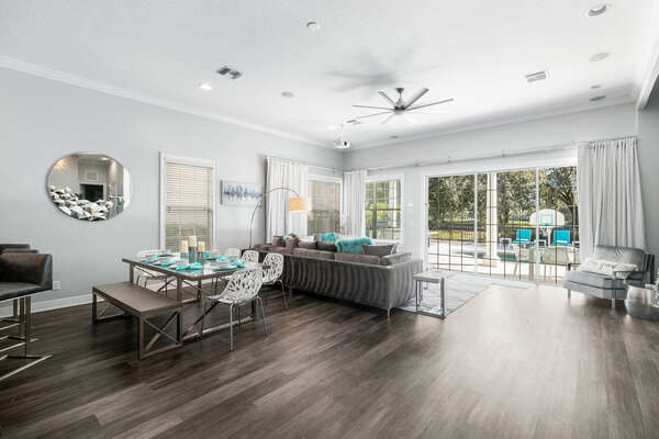 The large open concept living space is perfect for everyone to be together