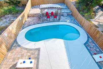 Kidney Shape salt water pool