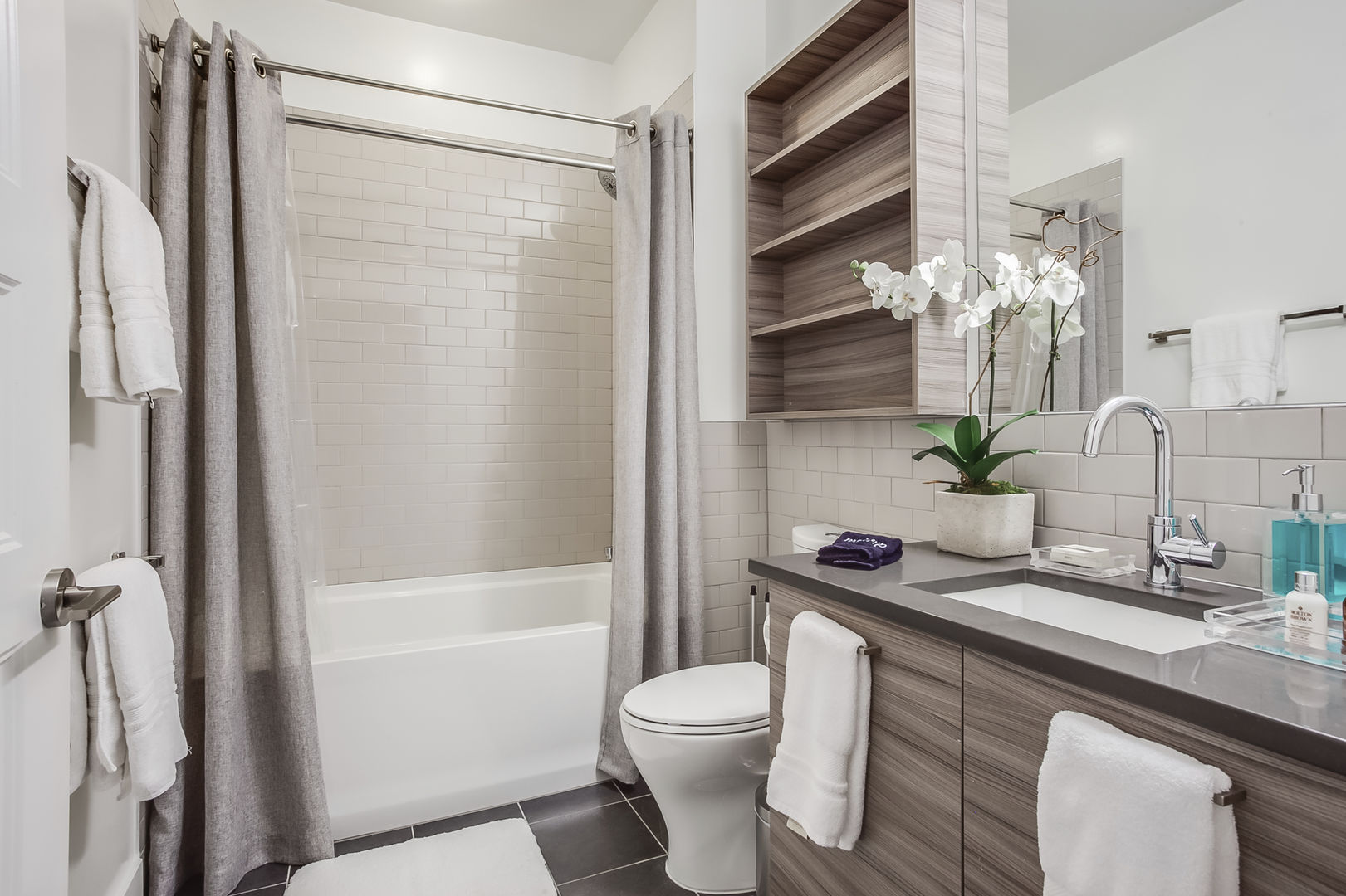 Guest Bathroom Features at Tub/Shower Combo