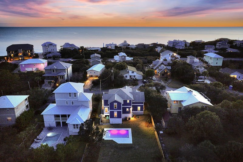 Aerial photo of this Destin vacation home.