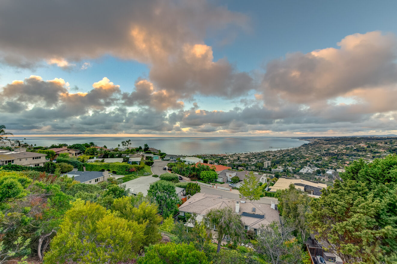 The view looking out toward La Jolla