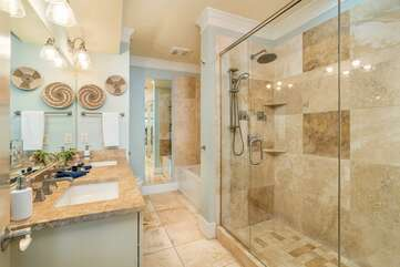 Master Bedroom 1 - ensuite with oversized shower and separate tub