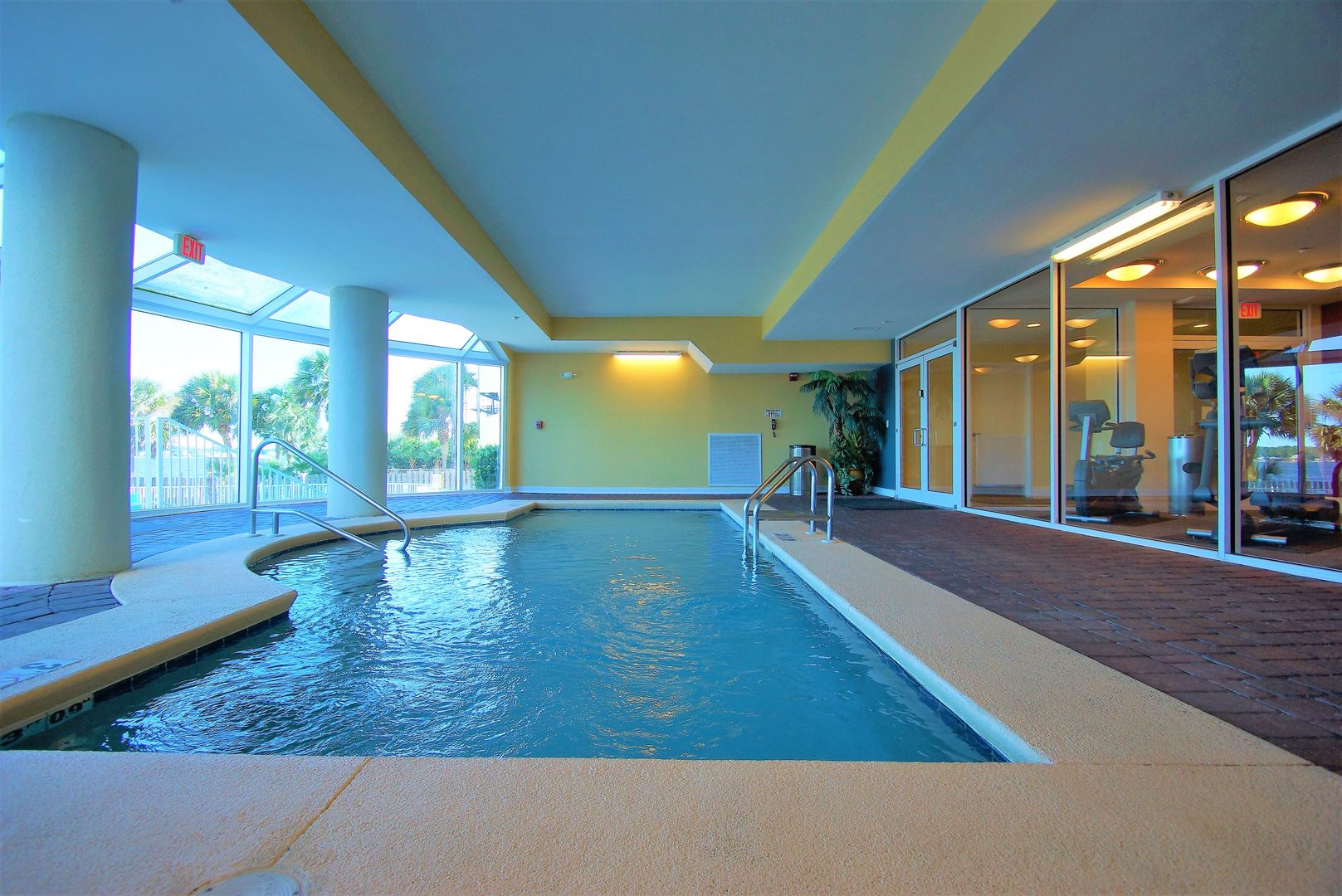 Picture of the Indoor Pool Next to the Fitness Center.