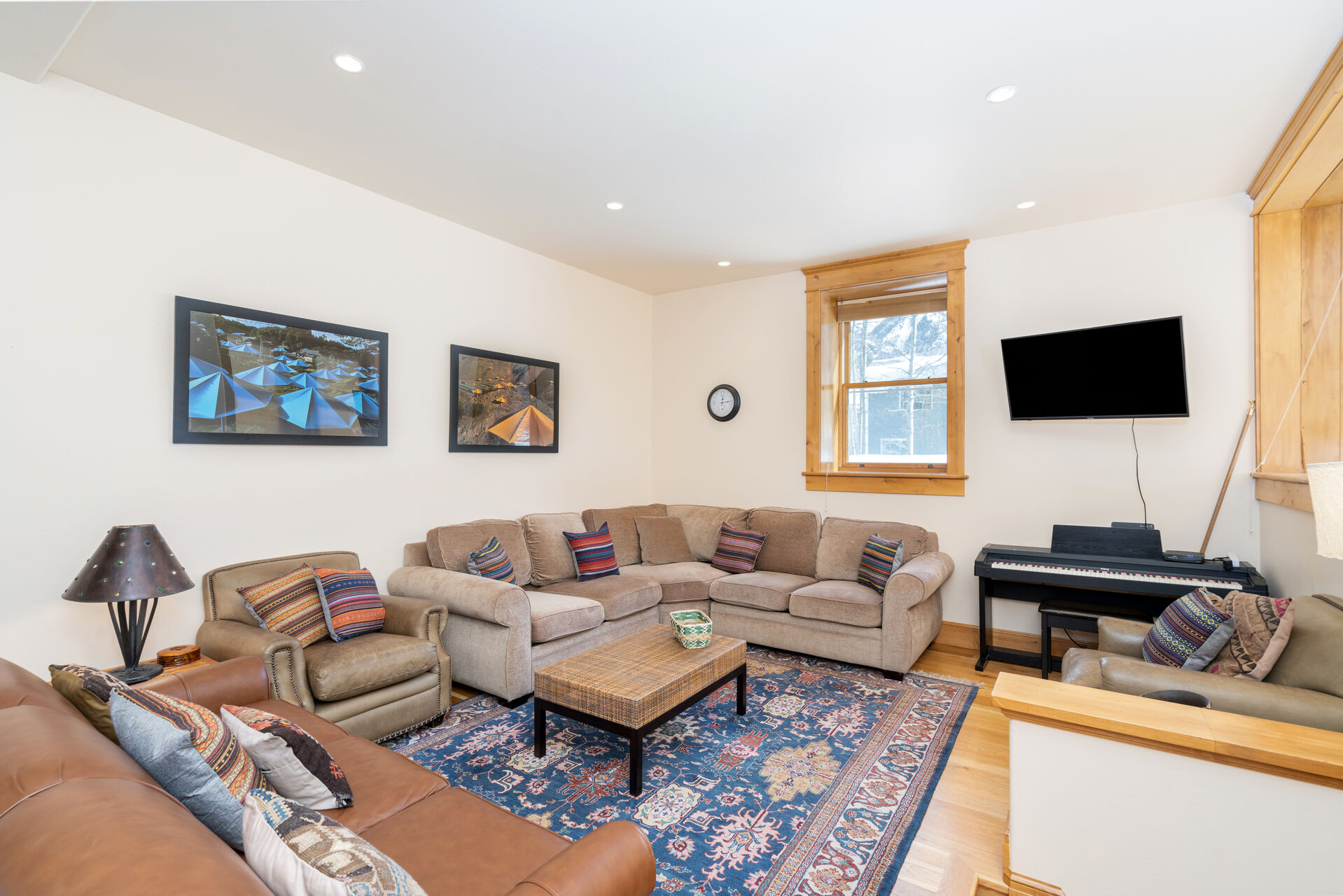 Large living room area in our Telluride vacation rental
