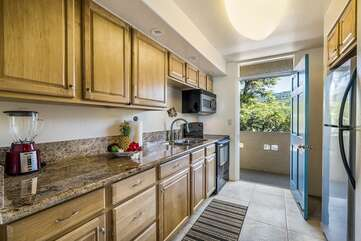 kitchen in our Kona Hawaii vacation rental