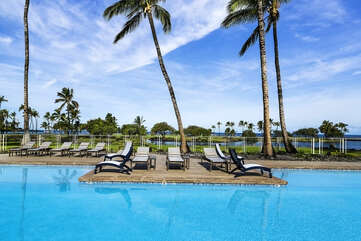 Chaise Lounge Chairs by the Mauna Lani Terrace Pool