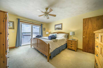 Master Bedroom, Main Level Overlooking the Lake