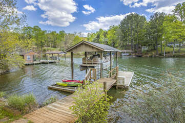 Great Dock with Kayaks