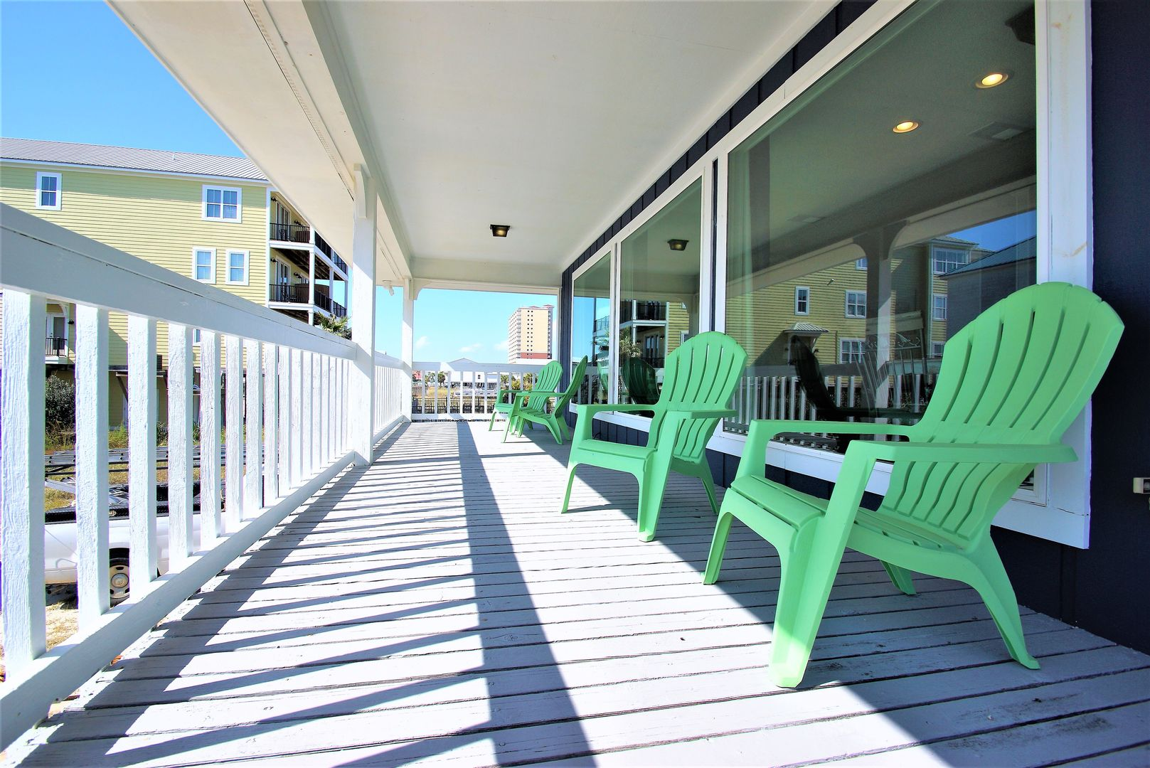 The Porch with Outdoor Chairs and Windows.